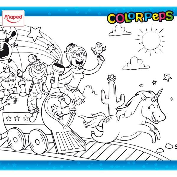 Omalovánky ColorPeps veselý vlak 1