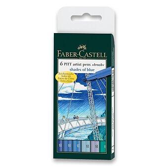 Obrázek produktu Popisovač Faber-Castell Pitt Artist Pen Brush - 6 ks, odstíny modré