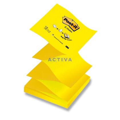 Obrázok produktu 3M Post-it R-330-N - samolepiaci Z-bloček - 76 × 76 mm, 100 l. - žltý