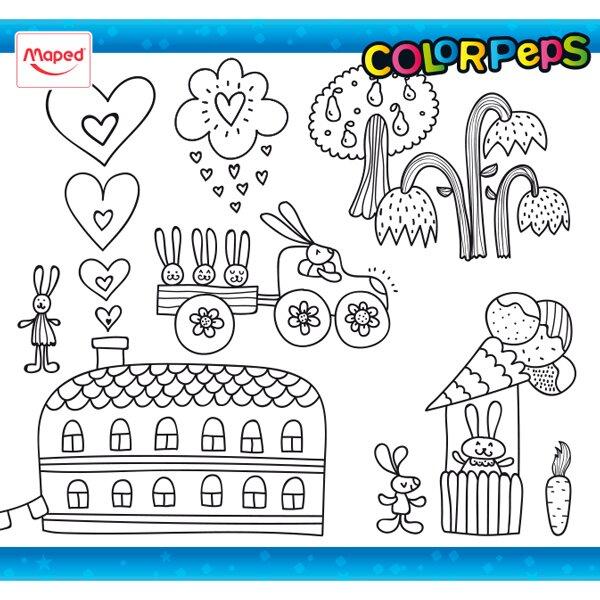 Omalovánky ColorPeps zajíčci