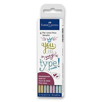 Obrázek produktu Popisovač Faber-Castell Pitt Artist Pen - 4 barvy, metalické