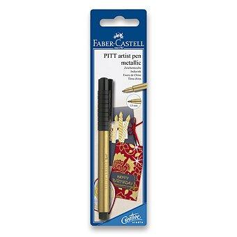 Obrázek produktu Popisovač Faber-Castell Pitt Artist Pen Metallic - blistr, zlatý