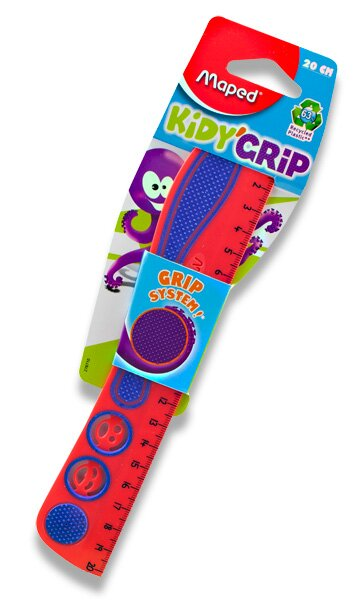Pravítko Maped Kidy Grip 20 cm, mix barev