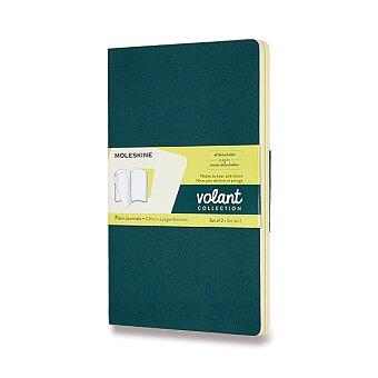 Obrázek produktu Sešity Moleskine Volant - měkké desky - L, čisté, 2 ks, zelená/žlutá