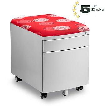 Obrázek produktu Pojízdný kontejner pro stoly Profi3 a Junior - červený