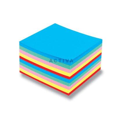 Obrázek produktu Color Paper - náhradní náplň barevná - 9×9×5 cm, nelepená
