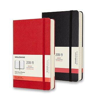 Obrázek produktu 18měsíční diář Moleskine 2018-19 - tvrdé desky - L, denní, výběr barev