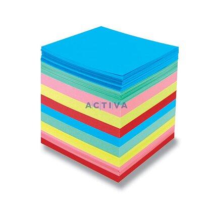 Obrázok produktu Color Paper - náhradná náplň farebná - 9 × 9 × 9 cm, 800 l., nelepená