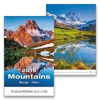 Nástěnný obrázkový kalendář Mountains