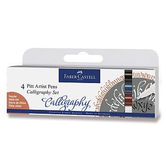 Obrázek produktu Popisovač Faber-Castell Pitt Artist Pen Calligraphy - 4 kusy, tmavé barvy