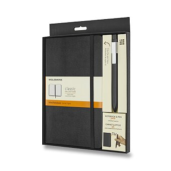 Obrázek produktu Dárková sada Moleskine - zápisník 9 x 14 cm a kuličková tužka