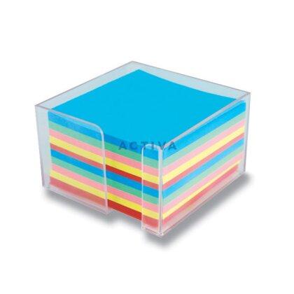 Obrázok produktu Clear Cube - číry box s farebným poznámkovým papierom - 10×10×6 cm
