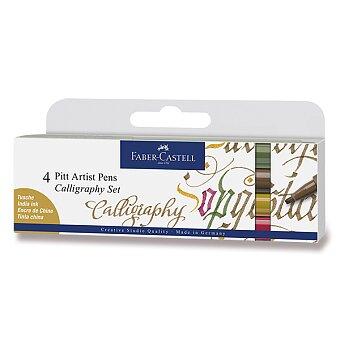 Obrázek produktu Popisovač Faber-Castell Pitt Artist Pen Calligraphy - 4 kusy