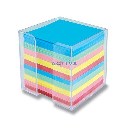 Obrázok produktu Clear Cube - číry box s farebným poznámkovým papierom - 10 × 10 × 10 cm
