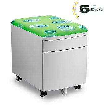 Obrázek produktu Pojízdný kontejner pro stoly Profi3 a Junior - zelený