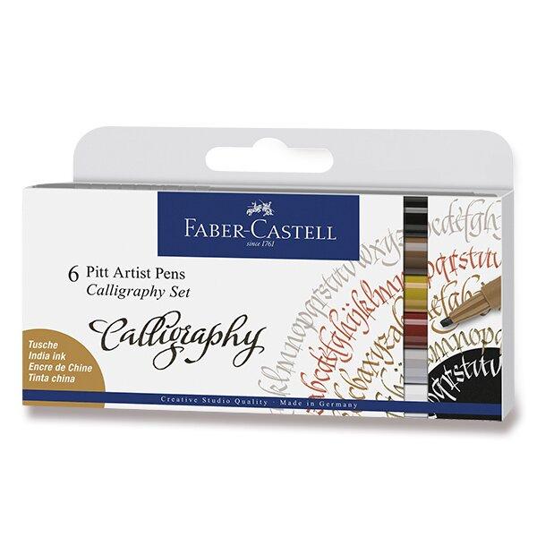Popisovač Faber-Castell Pitt Artist Pen Calligraphy 6 kusů