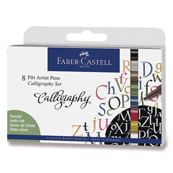 Popisovač Faber-Castell Pitt Artist Pen Calligraphy 8 kusů
