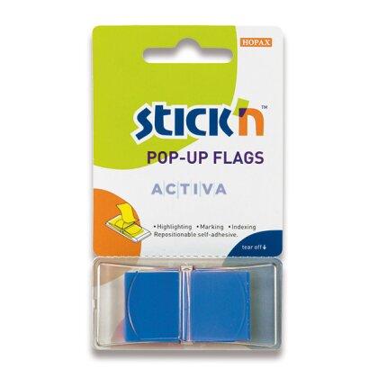 """Obrázek produktu Hopax Stick'n PopUp Flags - neonové proužky """"Z"""" - modré"""