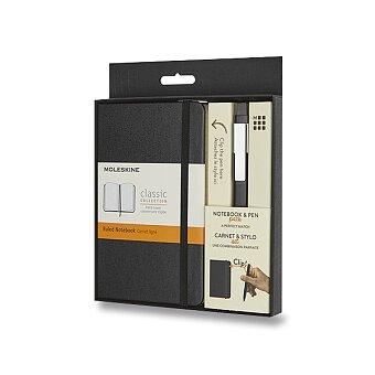 Obrázek produktu Zápisník Moleskine - tvrdé desky - L, dárková sada s kuličkovou tužkou