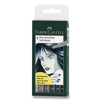 Obrázek produktu Popisovač Faber-Castell Pitt Artist Pen Soft Brush - 6 kusů