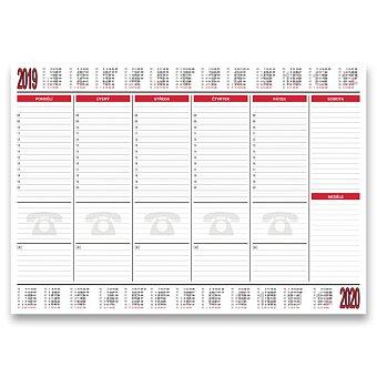Obrázek produktu Papírová stolní podložka Bobo 2019/2020 - 420 x 297 mm, 30 listů