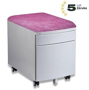 Obrázek produktu Pojízdný kontejner pro stoly Profi3 a Junior - růžový