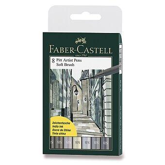 Obrázek produktu Popisovač Faber-Castell Pitt Artist Pen Soft Brush - 8 kusů