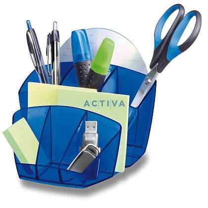 Obrázek produktu CEP Pro Happy - stojánek na psací potřeby - modrý, s přihrádkami