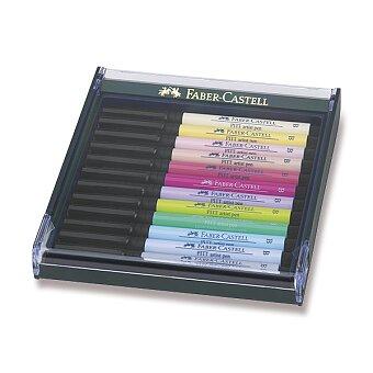 Obrázek produktu Popisovače Faber-Castell Pitt Artist Pen Brush - 12 ks, pastelové barvy