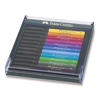 Obrázek produktu Popisovače Faber-Castell Pitt Artist Pen Brush - 12 ks, základní barvy