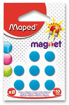 Obrázek produktu Kulaté magnety Maped - průměr 10 mm - 8 ks, mix barev