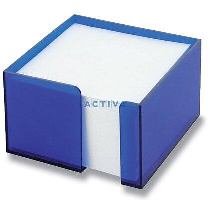 Obrázok produktu Office - zásobník s papierom - modrý transp., 10 x 10 x 6 cm