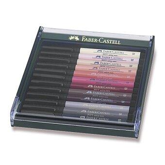 Obrázek produktu Faber-Castell Pitt Artist Pen Brush - sada 12 ks, tělové barvy