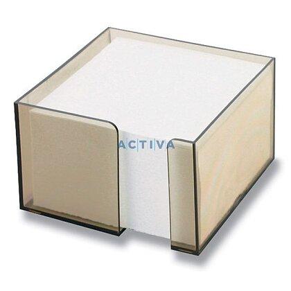 Obrázok produktu Office - zásobník s papierom - hnedý transp., 10 x 10 x 6 cm