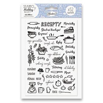 Obrázek produktu Razítka Stampo Hobby - Moje recepty - 52 ks