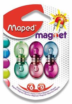 Obrázek produktu Silné magnety Maped - průměr 13 mm - mix barev, 6 ks