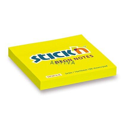 Obrázok produktu Hopax Stick´n Neon Notes - samolepiaci bloček - 76 x 76 mm, 100 l., žltý