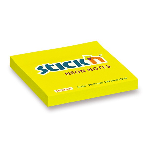Samolepicí bloček Hopax Stick'n Notes žlutý