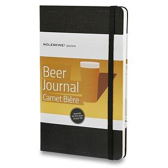 Obrázek produktu Zápisník  v tvrdých deskách Moleskine Passion Beer Journal - 13 x 21 cm, pro pivaře, černý