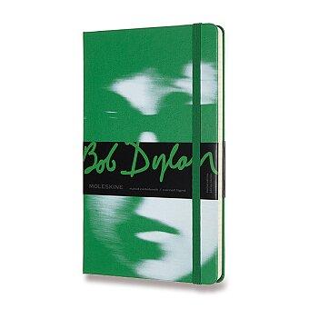 Obrázek produktu Zápisník Moleskine Bob Dylan - tvrdé desky - L, linkovaný, zelený