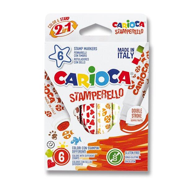 Fixy Carioca Stamp Markers 6 barev