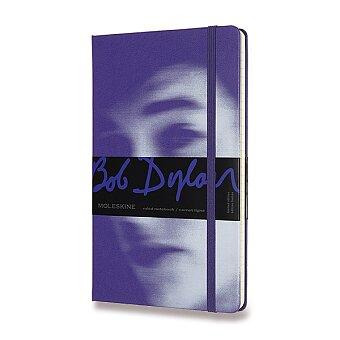 Obrázek produktu Zápisník Moleskine Bob Dylan - tvrdé desky - L, linkovaný, fialový