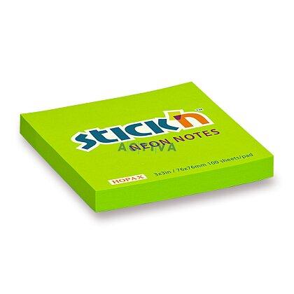 Obrázek produktu Hopax Stick'n Neon Notes - samolepicí bloček - zelený