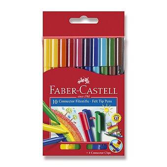 Obrázek produktu Dětské fixy Faber-Castell Connector - 10 barev