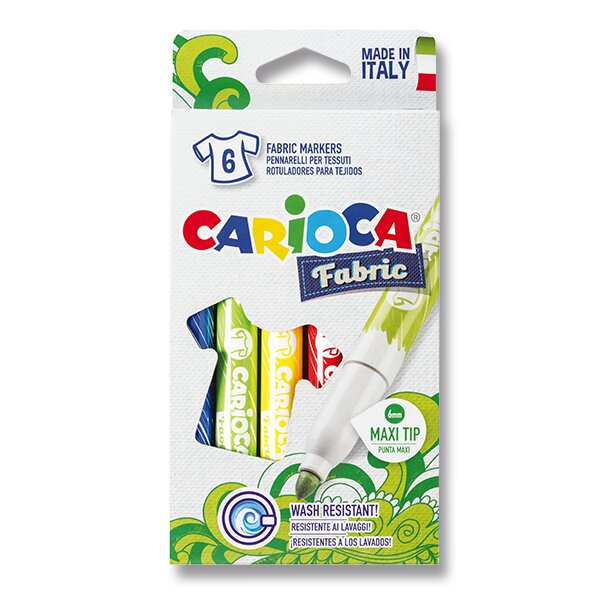 Fixy Carioca Fabricart 6 barev