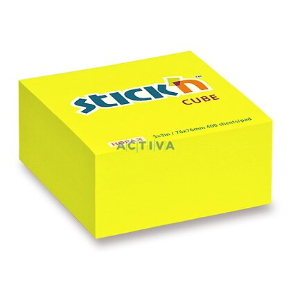 Obrázek produktu Hopax Stick'n Notes - samolepicí bloček - 76 x 76 mm, 400 l., žlutý