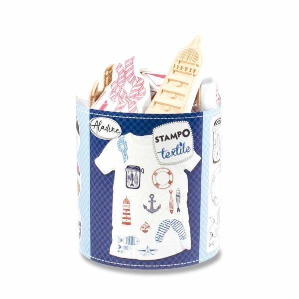Razítka Aladine Stampo Textile Marina, 13 ks