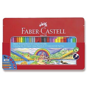 Obrázek produktu Kreativní sada Faber-Castell - fixy Connector a pastelky - 50 kusů