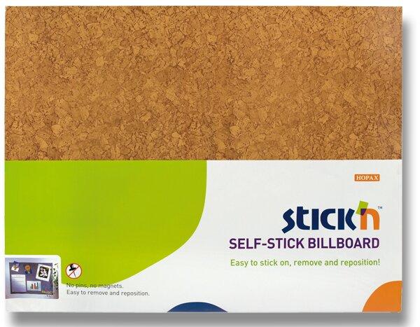 Samolepicí nástěnka Hopax Stick'n hnědá, 58 x 46 cm