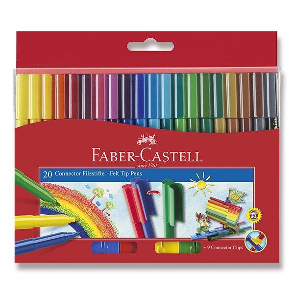 Dětské fixy Faber-Castell Connector 20 barev